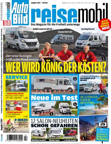 magazine for Auto Bild Reisemobil Magazin Juli No 07 2017