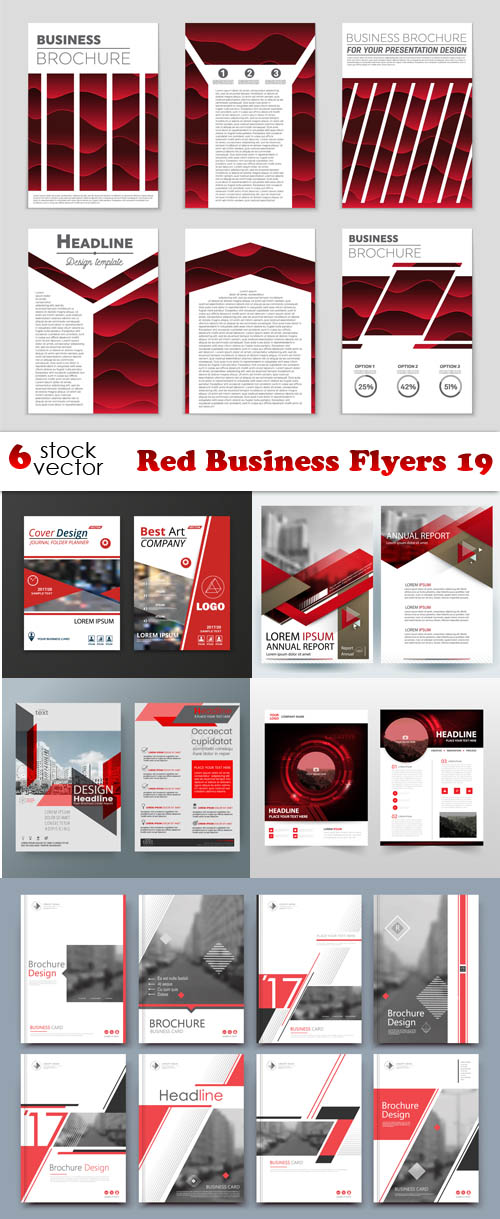 Vectors Red Business Flyers 19