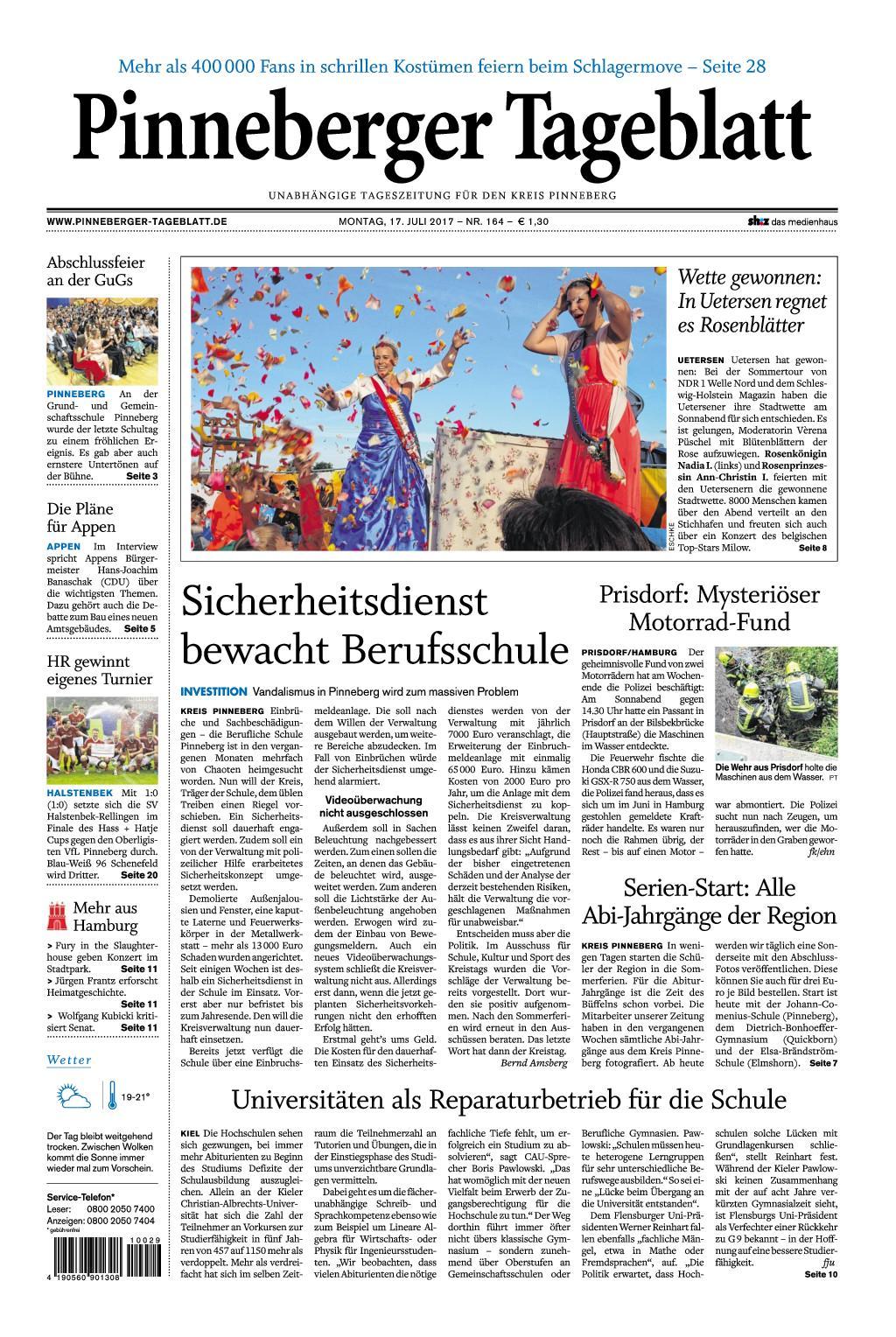 : Pinneberger Tageblatt 17 Juli 2017