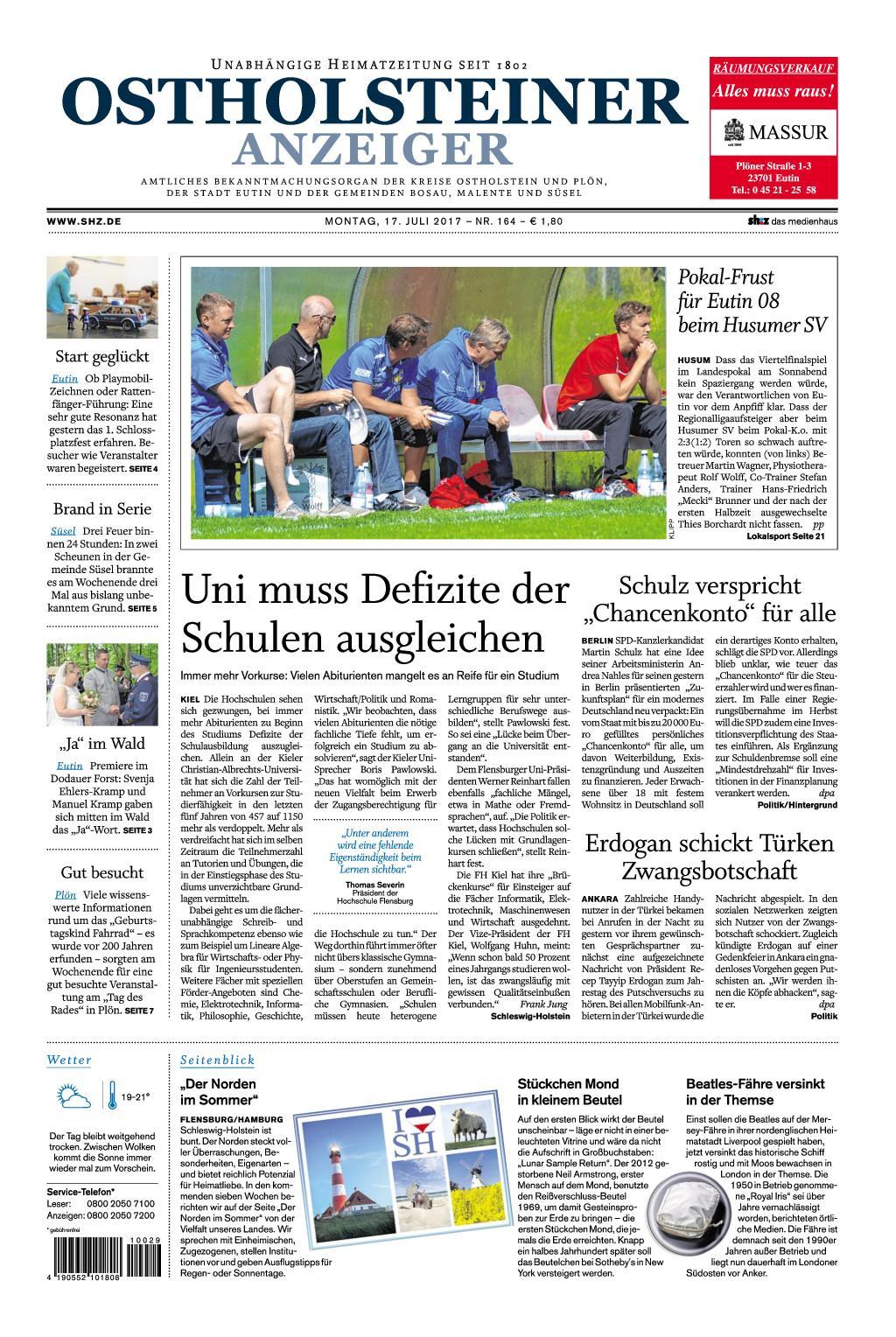 : Ostholsteiner Anzeiger 17 Juli 2017