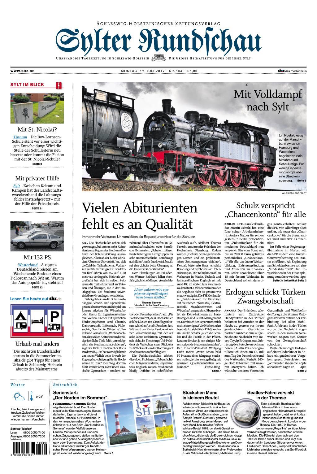 : Sylter Rundschau 17 Juli 2017