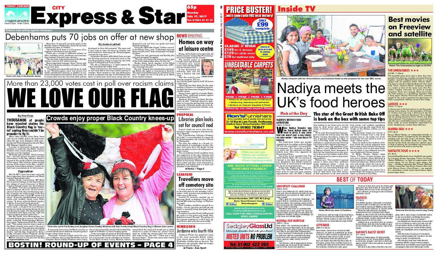 : Express and Star City Edition July 17 2017