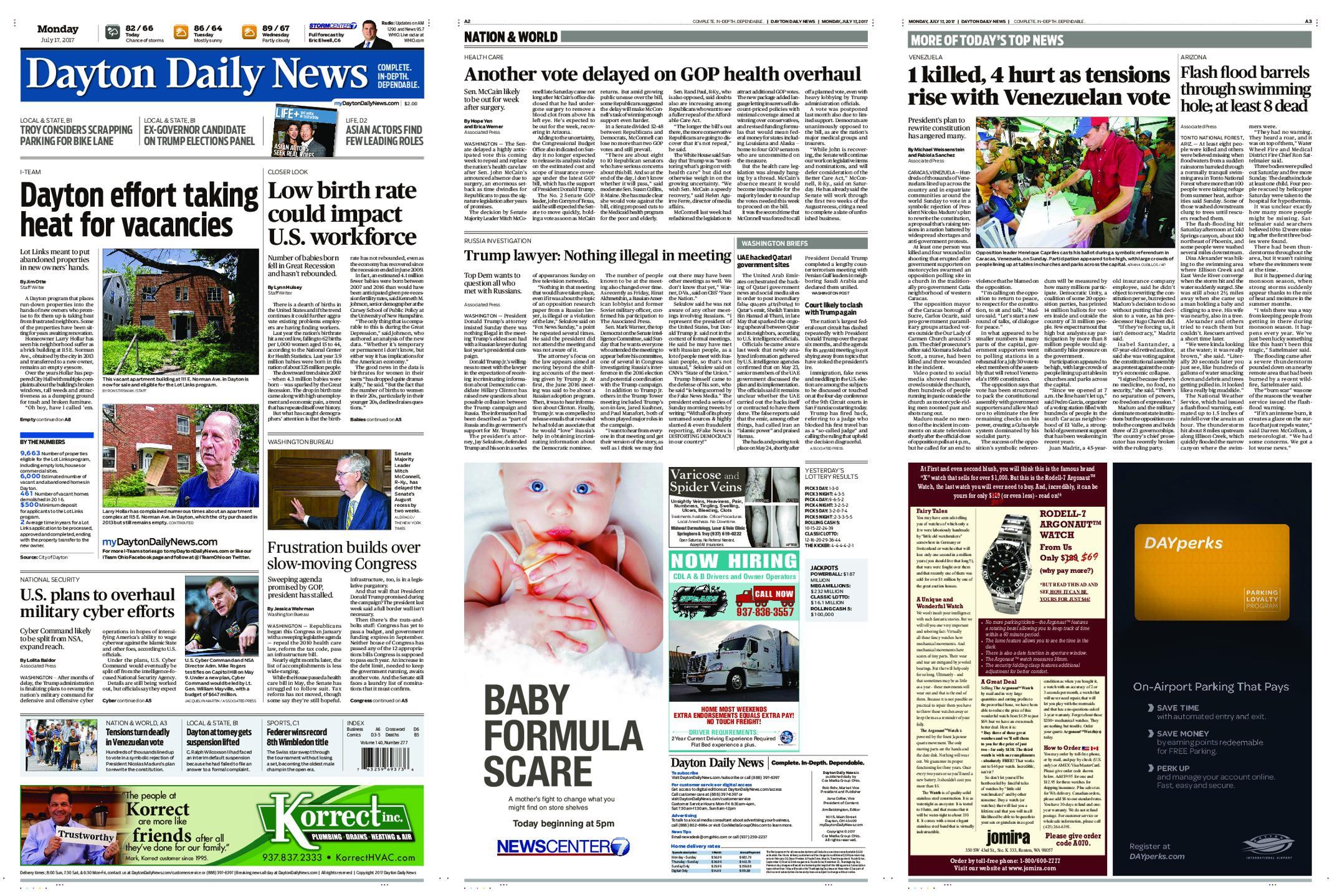 : Dayton Daily News July 17 2017