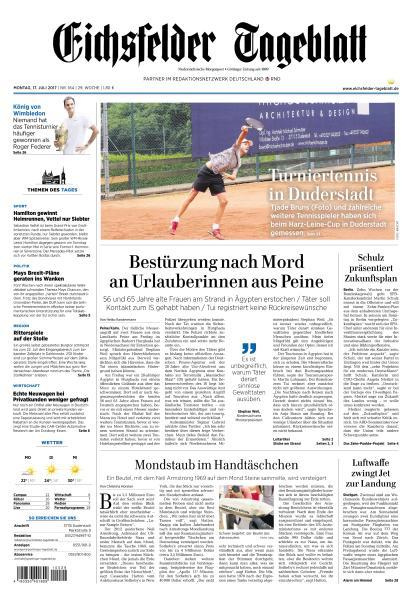 : Eichsfelder Tageblatt 17 Juli 2017