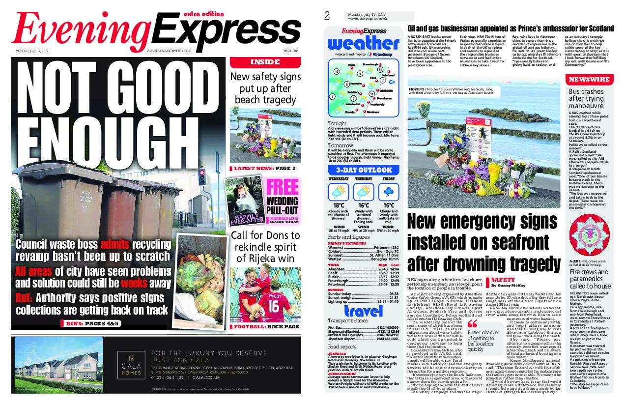 : Evening Express July 17 2017