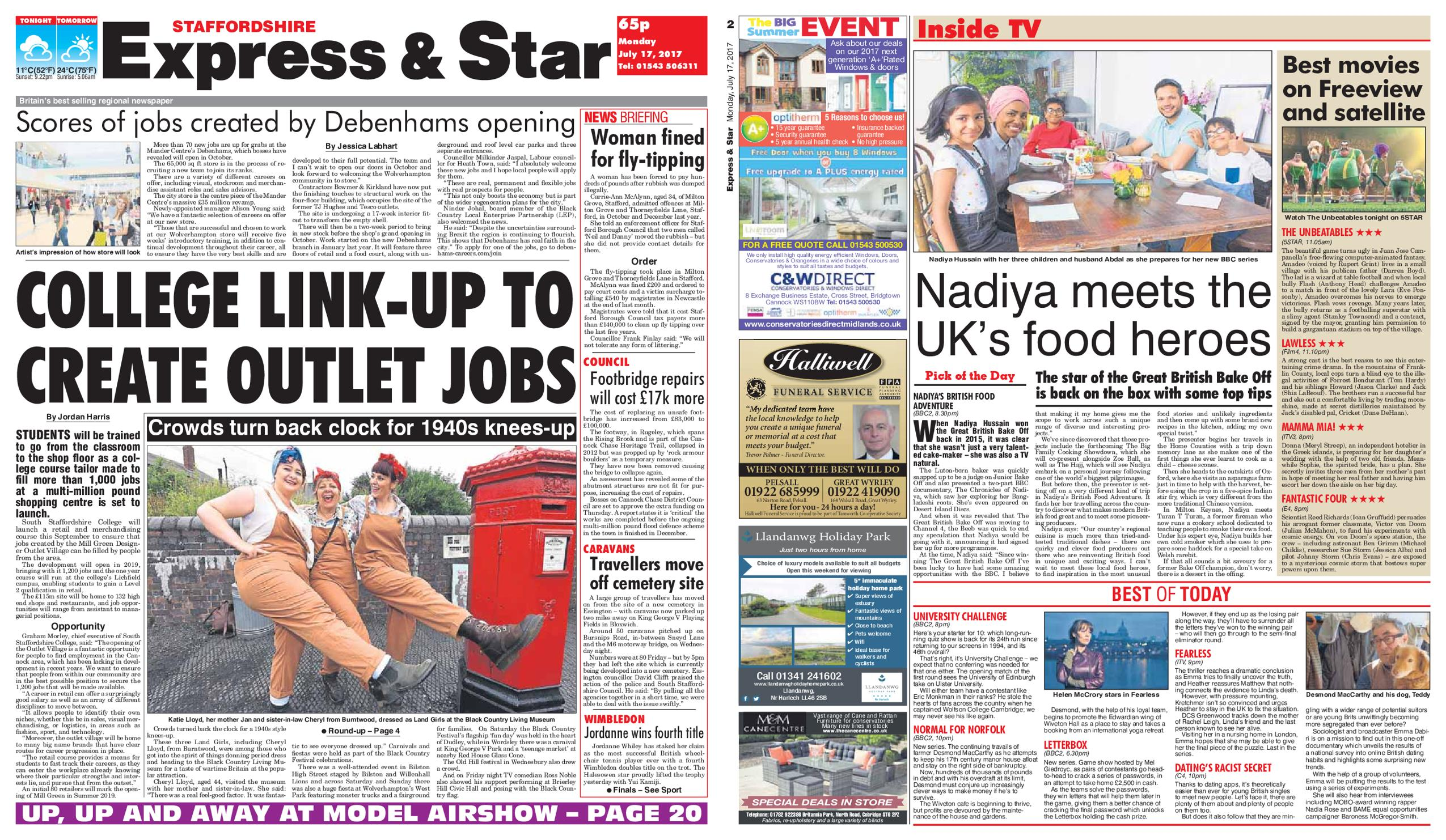 : Express and Star Staffordshire Edition July 17 2017
