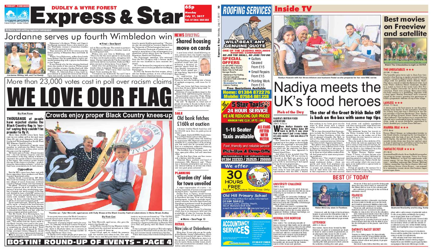: Express and Star Dudley and Wyre Forest Edition July 17 2017