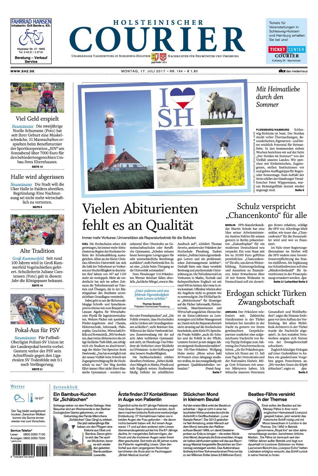 : Holsteinischer Courier 17 Juli 2017