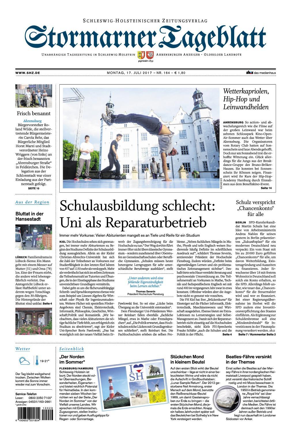 : Stormarner Tageblatt 17 Juli 2017