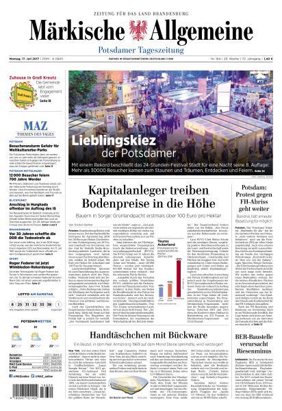 : Maerkische Allgemeine 17 Juli 2017