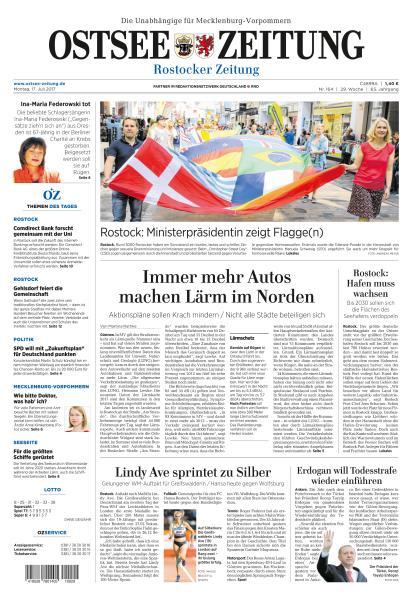 : Ostsee Zeitung 17 Juli 2017