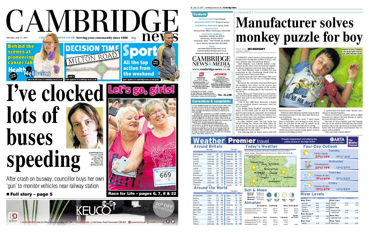 : Cambridge News July 17 2017