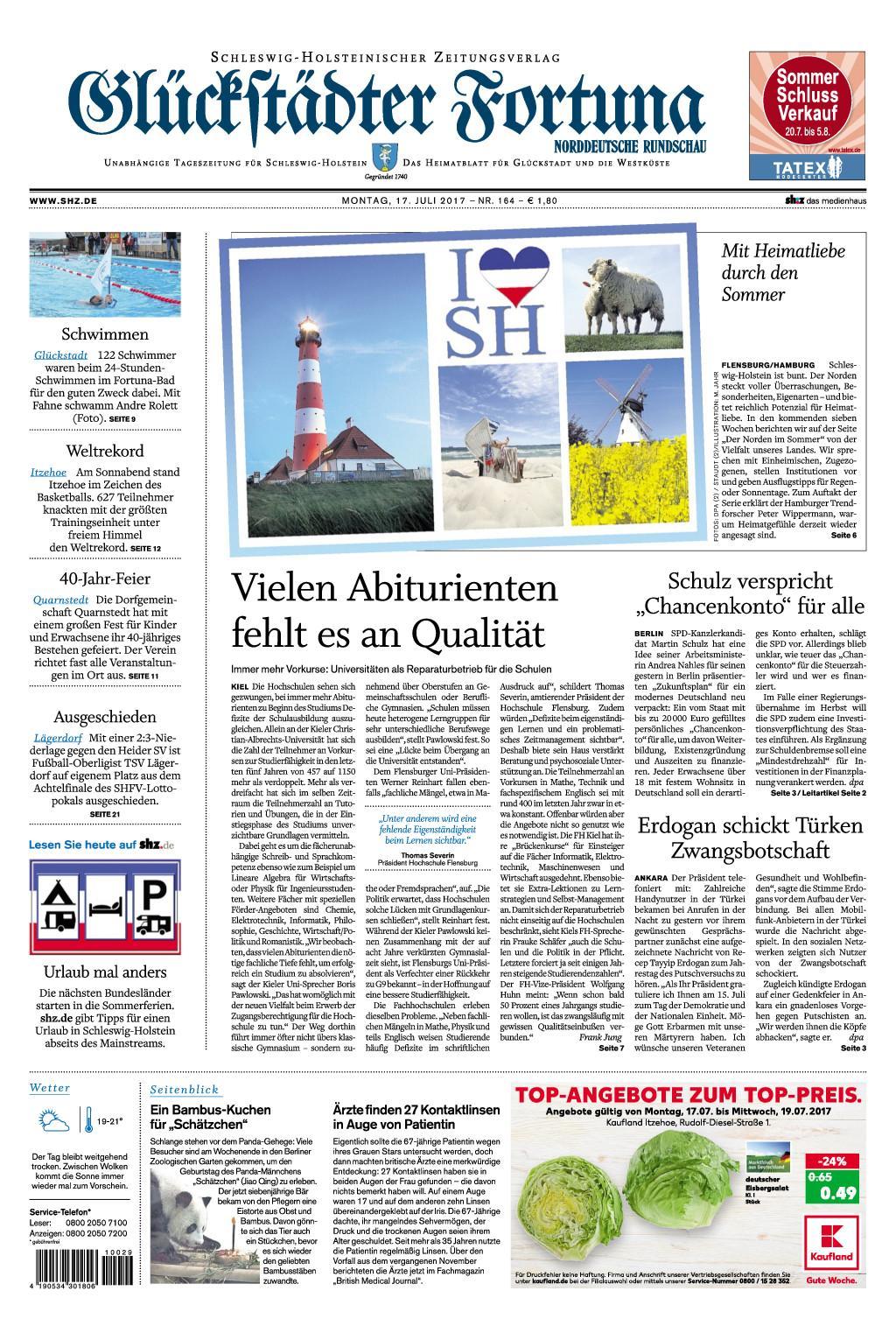: Glueckstaedter Fortuna 17 Juli 2017