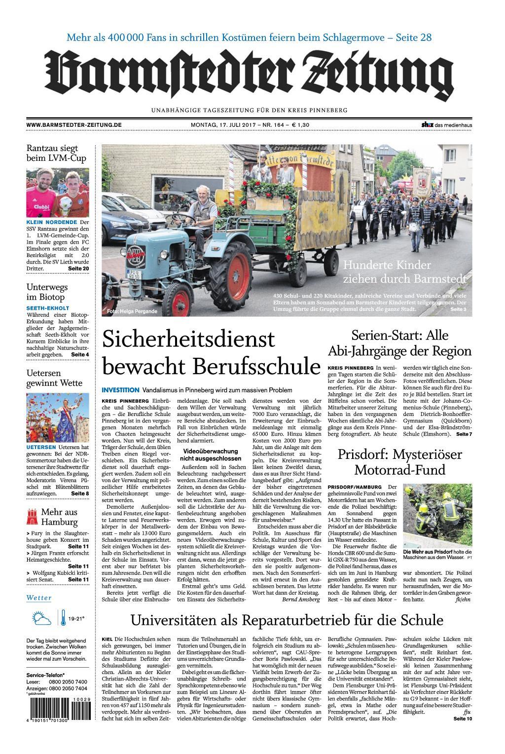 : Barmstedter Zeitung 17 Juli 2017