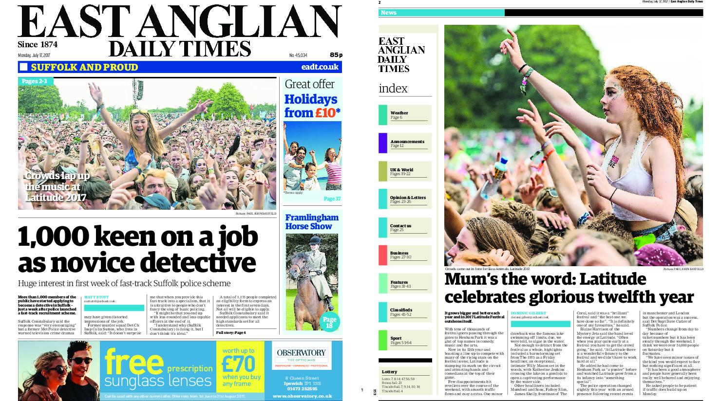 : East Anglian Daily Times July 17 2017