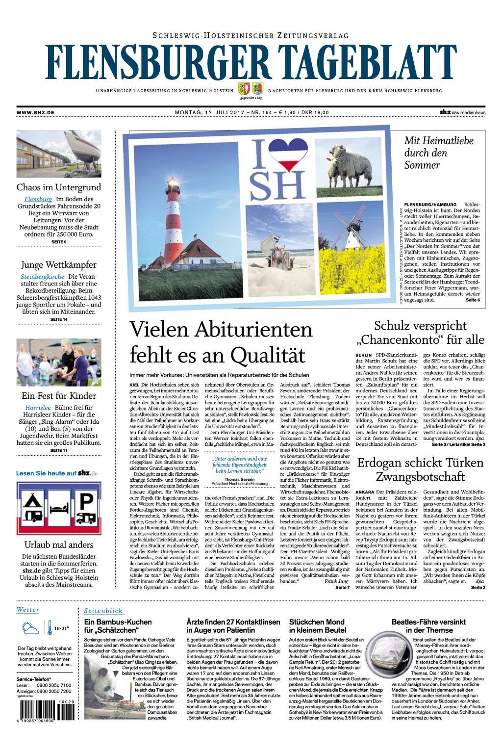 : Flensburger Tageblatt 17 Juli 2017