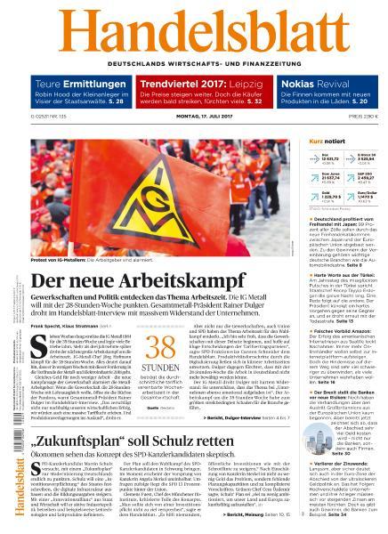 : Handelsblatt 17 Juli 2017