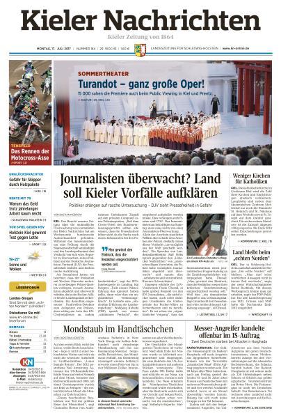 : Kieler Nachrichten 17 Juli 2017