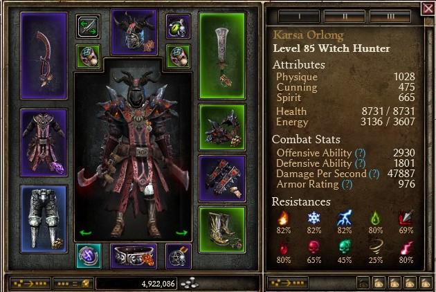 1 0 0 9] Tri-damage Witch Hunter - Dual wielding Nemesis
