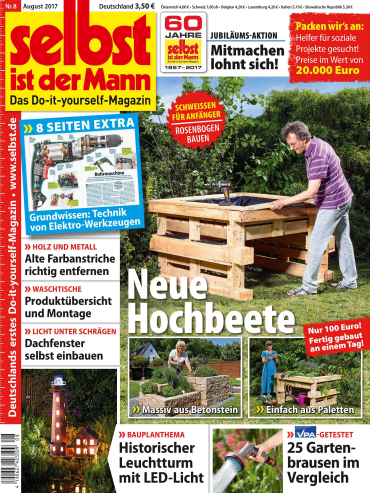 magazine Selbst ist der Mann Heimwerkermagazin August No 08 2017