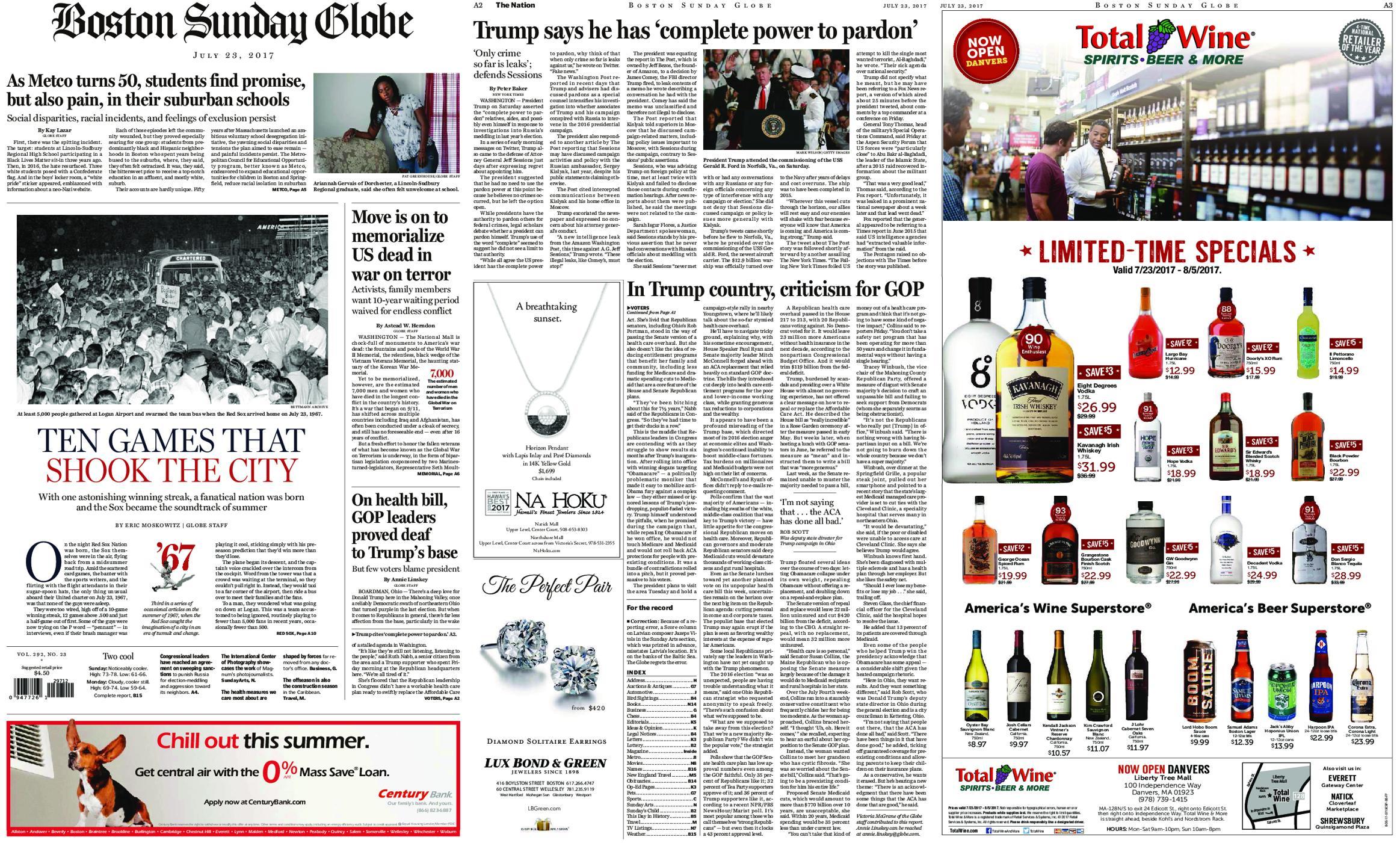 The Boston Globe July 23 2017