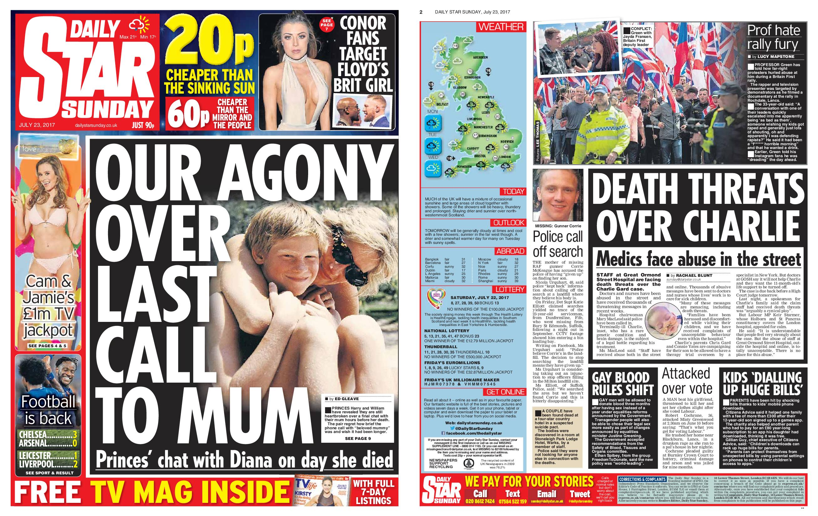 Daily Star July 23 2017