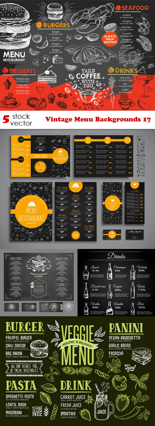 Vectors.Vintage.Menu.Backgrounds.17