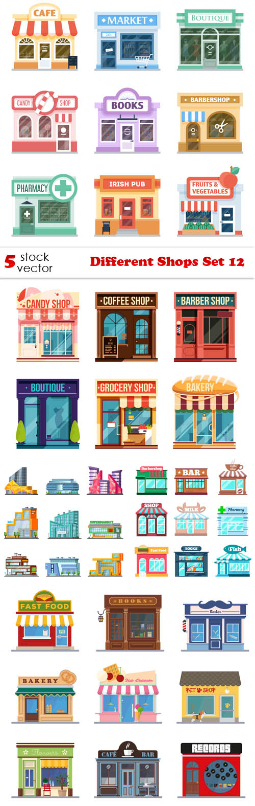 Vectors.Different.Shops.Set.12