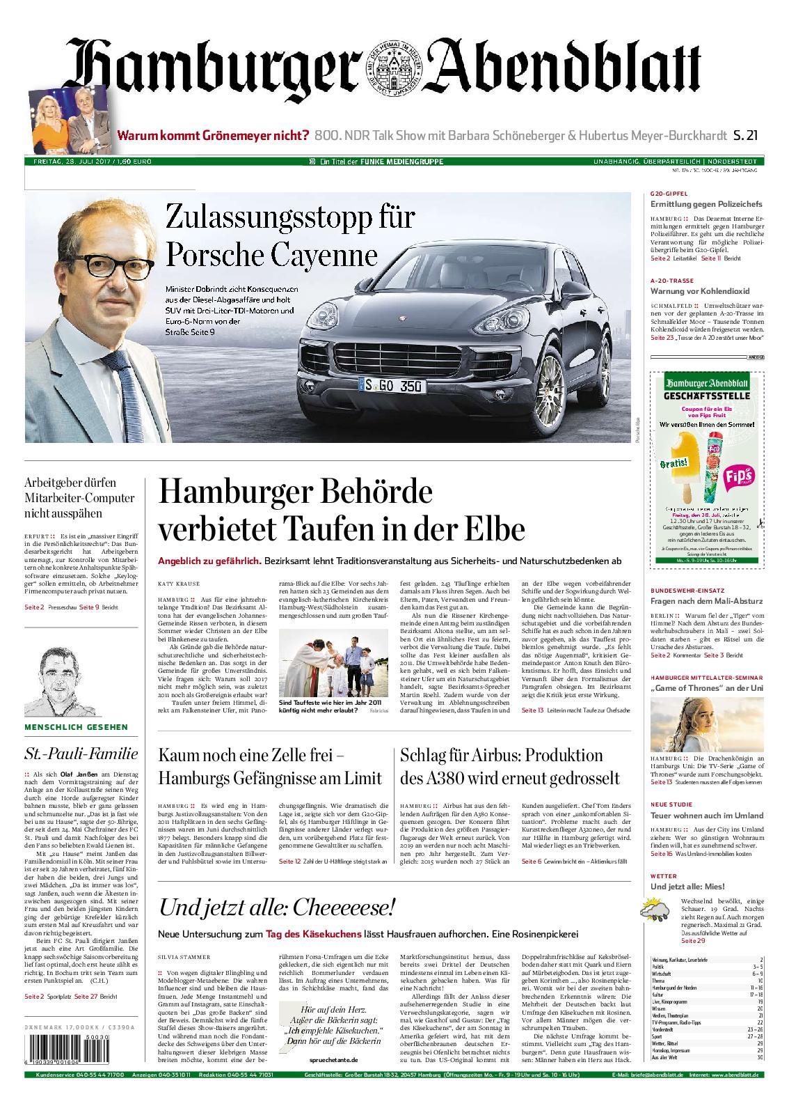 Hamburger Abendblatt Nrrderstedt 28 Juli 2017
