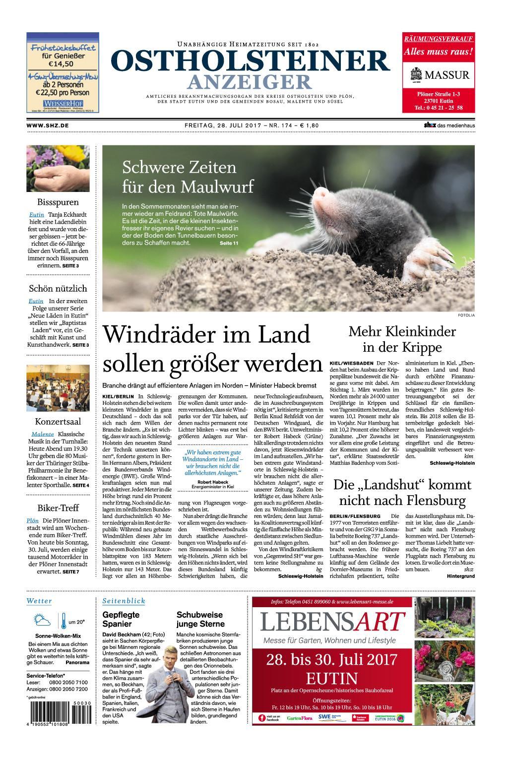 Ostholsteiner Anzeiger 28 Juli 2017