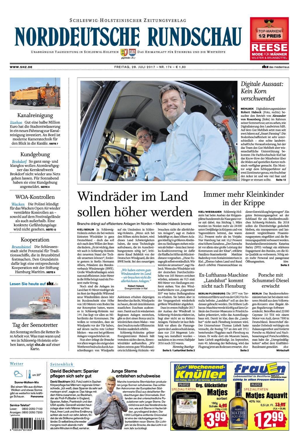 Nrrddeutsche Rundschau 28 Juli 2017
