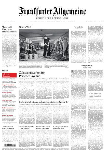Frankfurter Allgemeine Zeitung 28 Juli 2017