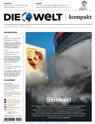 Die Welt Kompakt Hamburg 28 Juli 2017