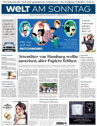 Welt am Sonntag Hamburg 30 Juli 2017
