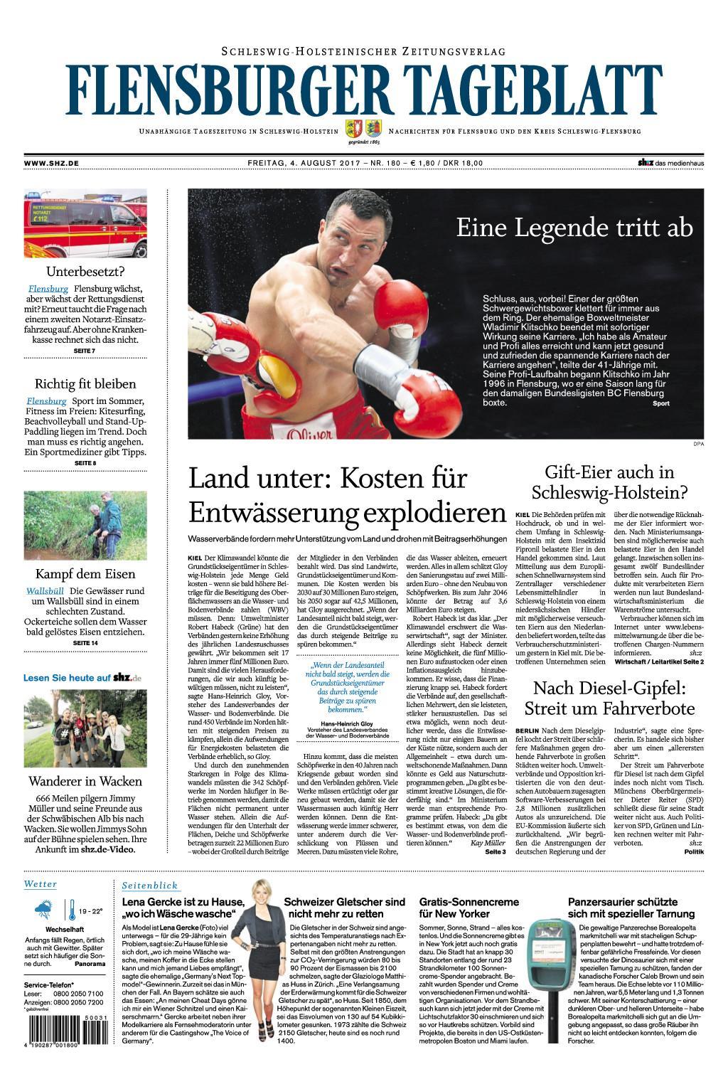 Flensburger Tageblatt 04 August 2017