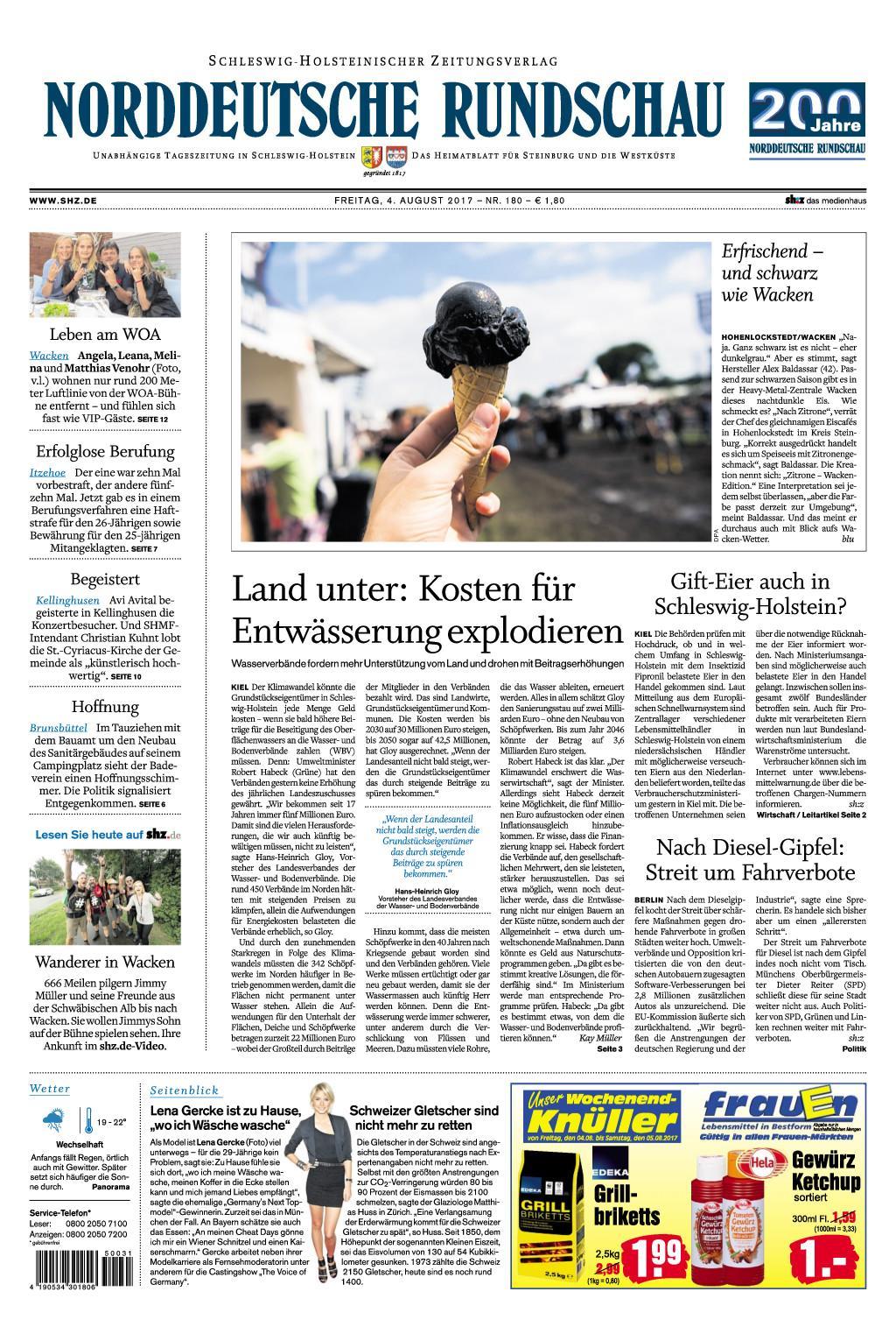 Nrrddeutsche Rundschau 04 August 2017