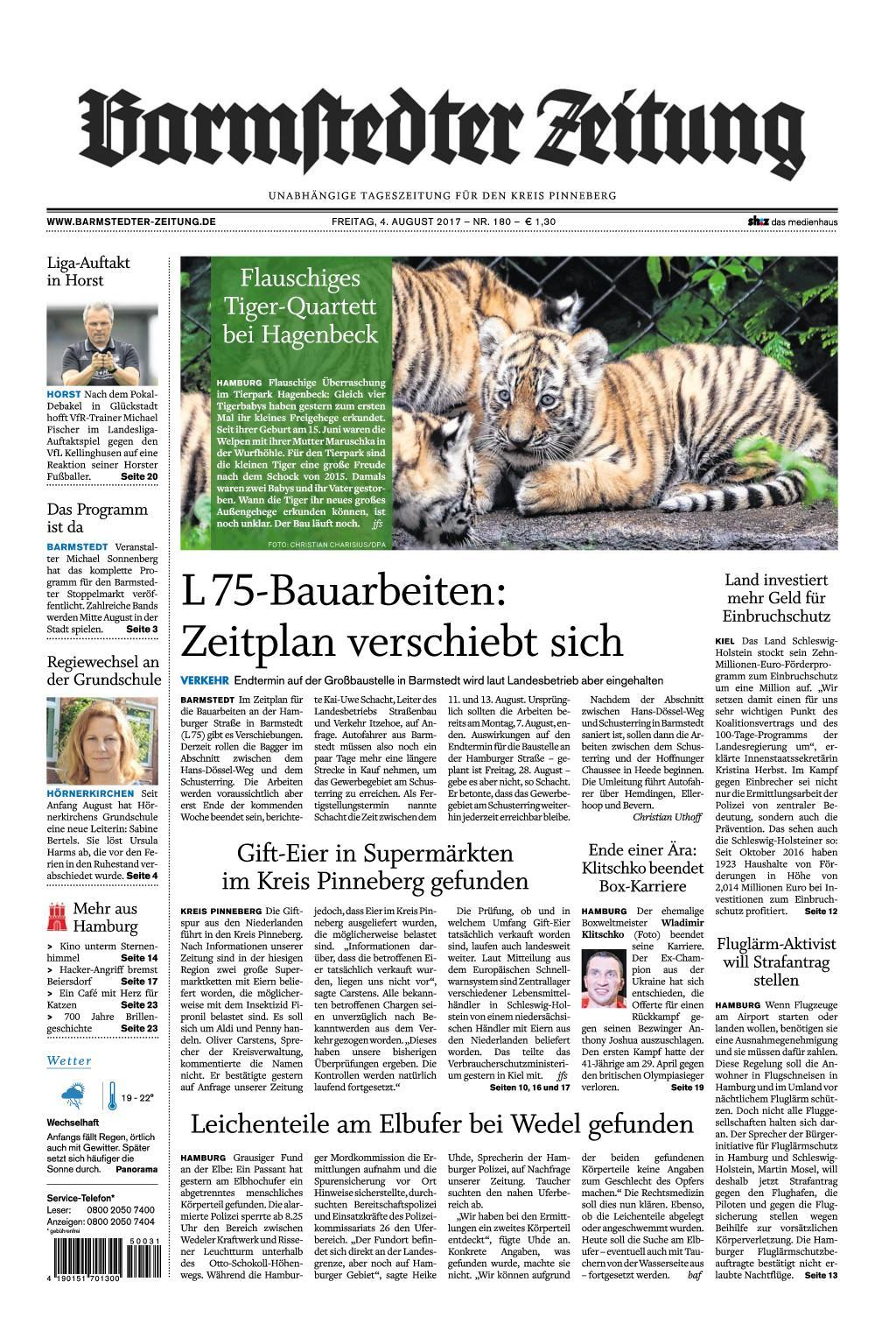 Barmstedter Zeitung 04 August 2017