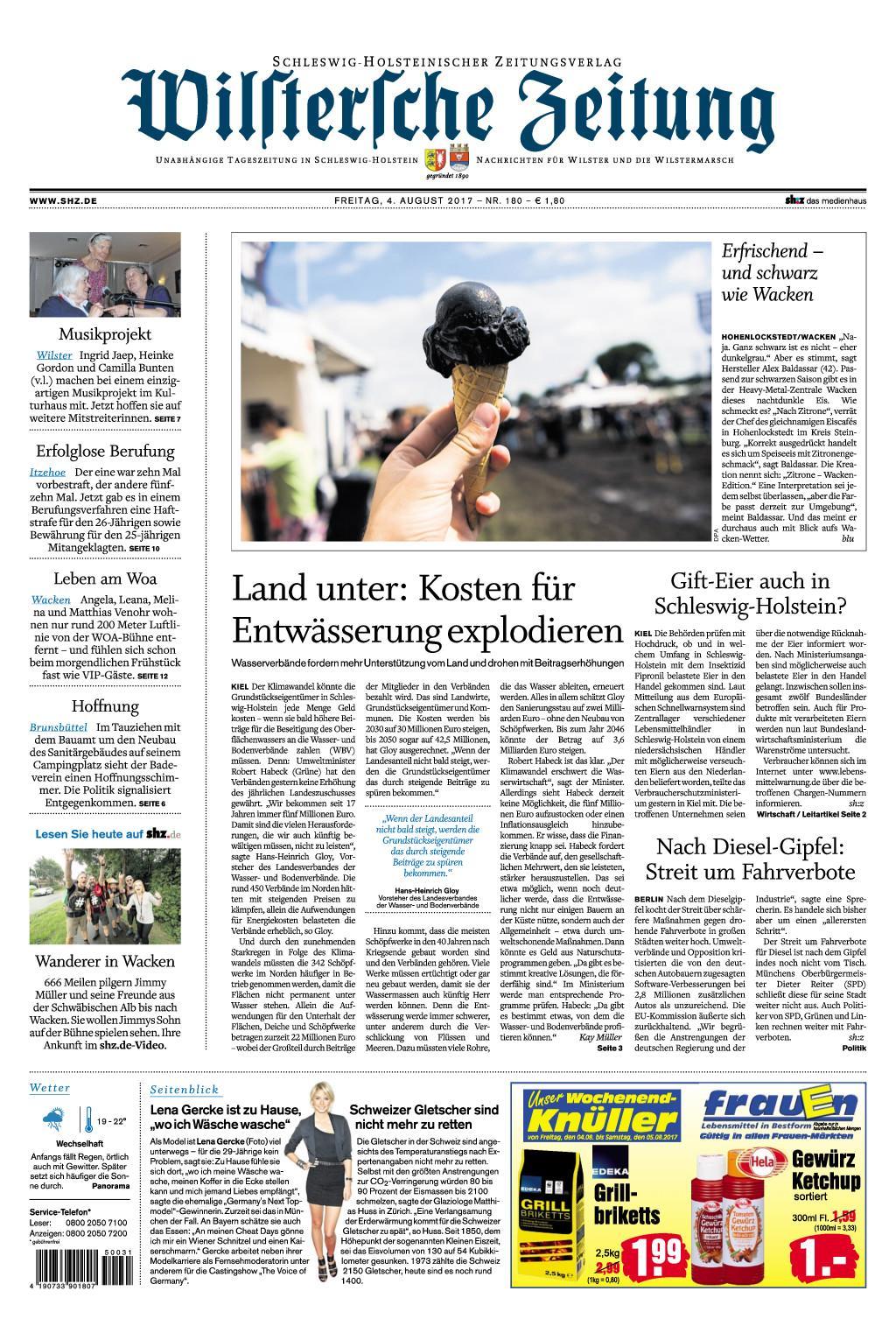Wilstersche Zeitung 04 August 2017