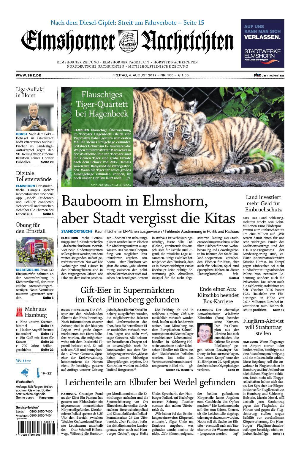 Elmshorner Nachrichten 04 August 2017