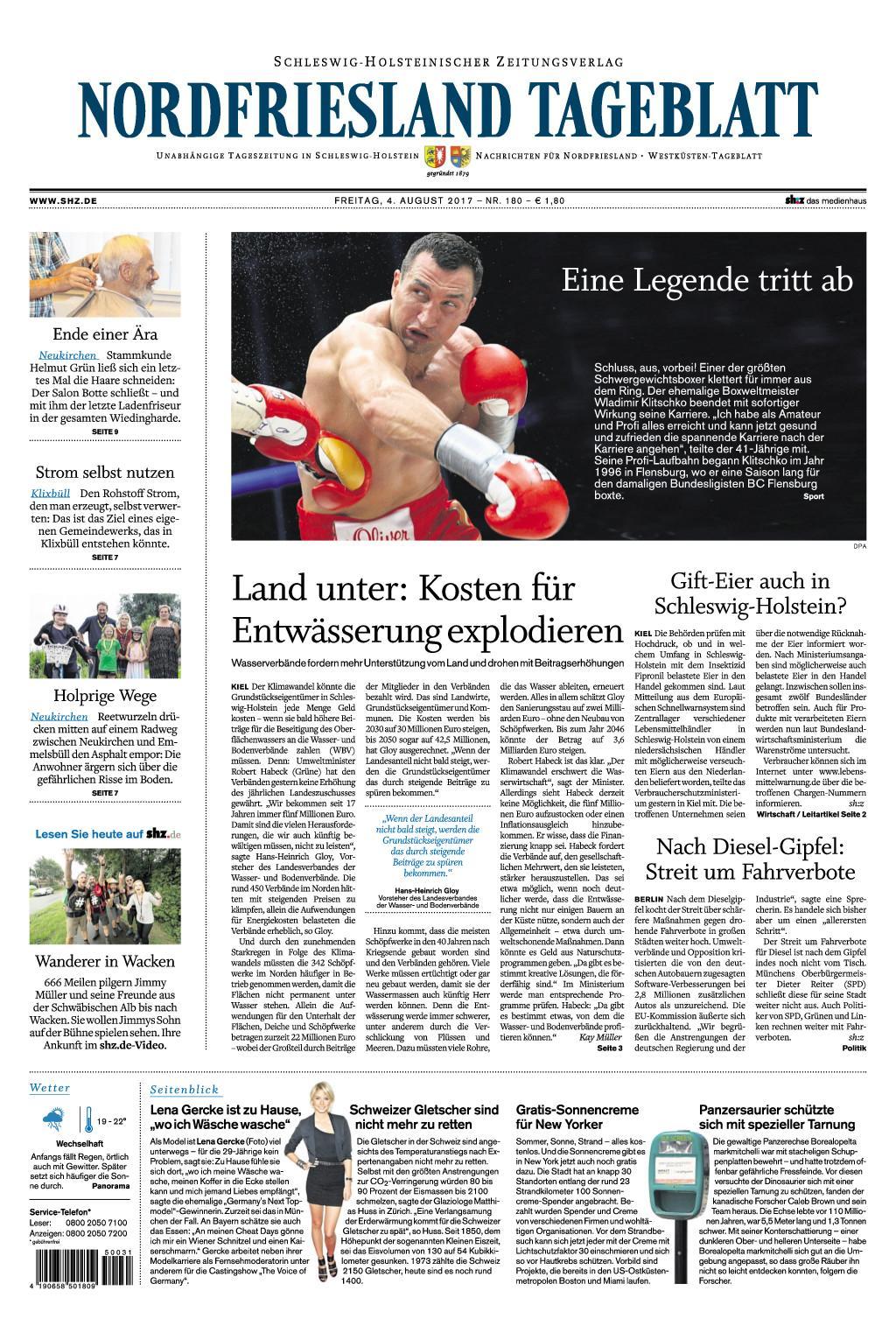 Nrrdfriesland Tageblatt 04 August 2017