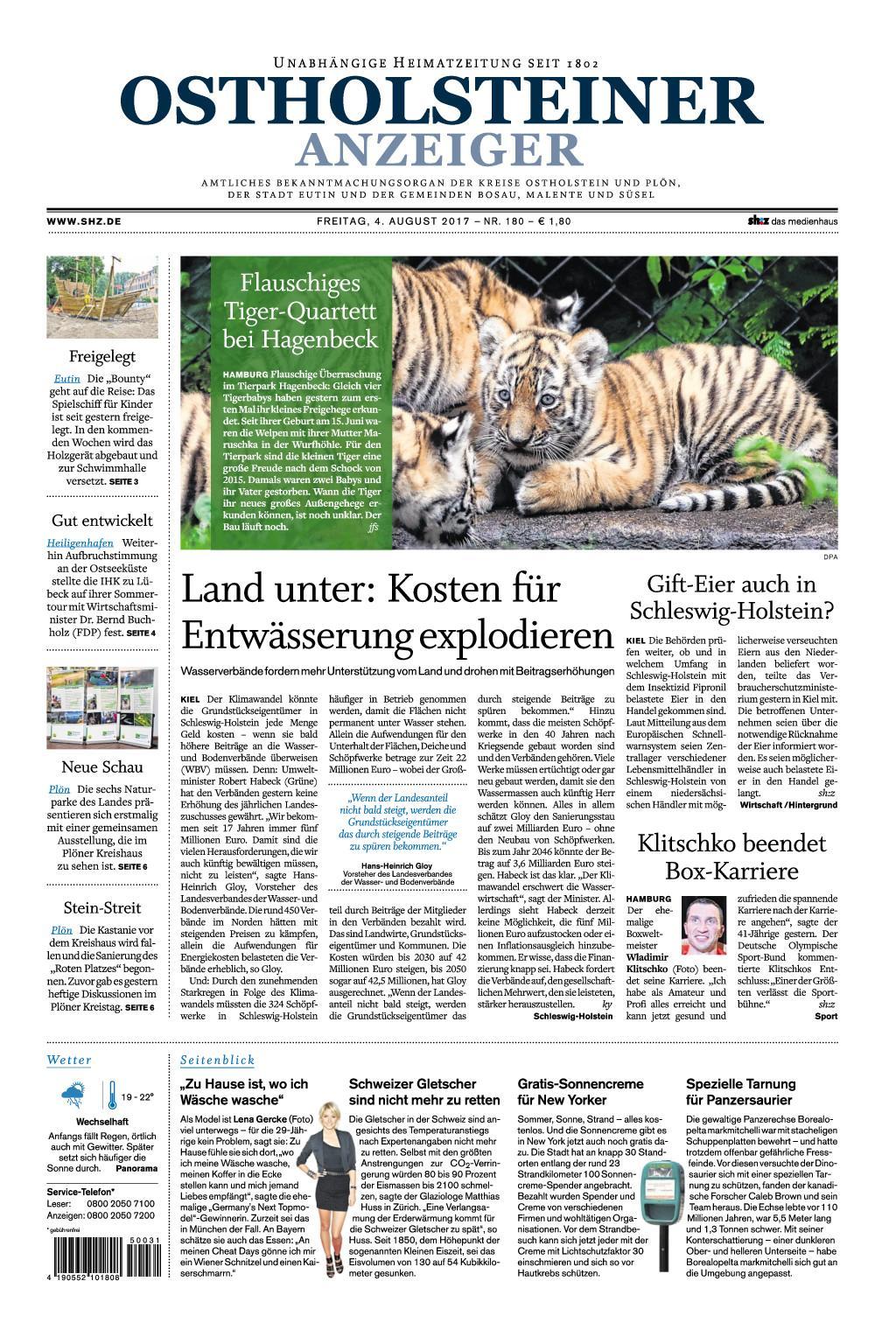 Ostholsteiner Anzeiger 04 August 2017