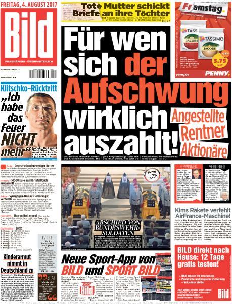 Bild Zeitung 4 August 2017