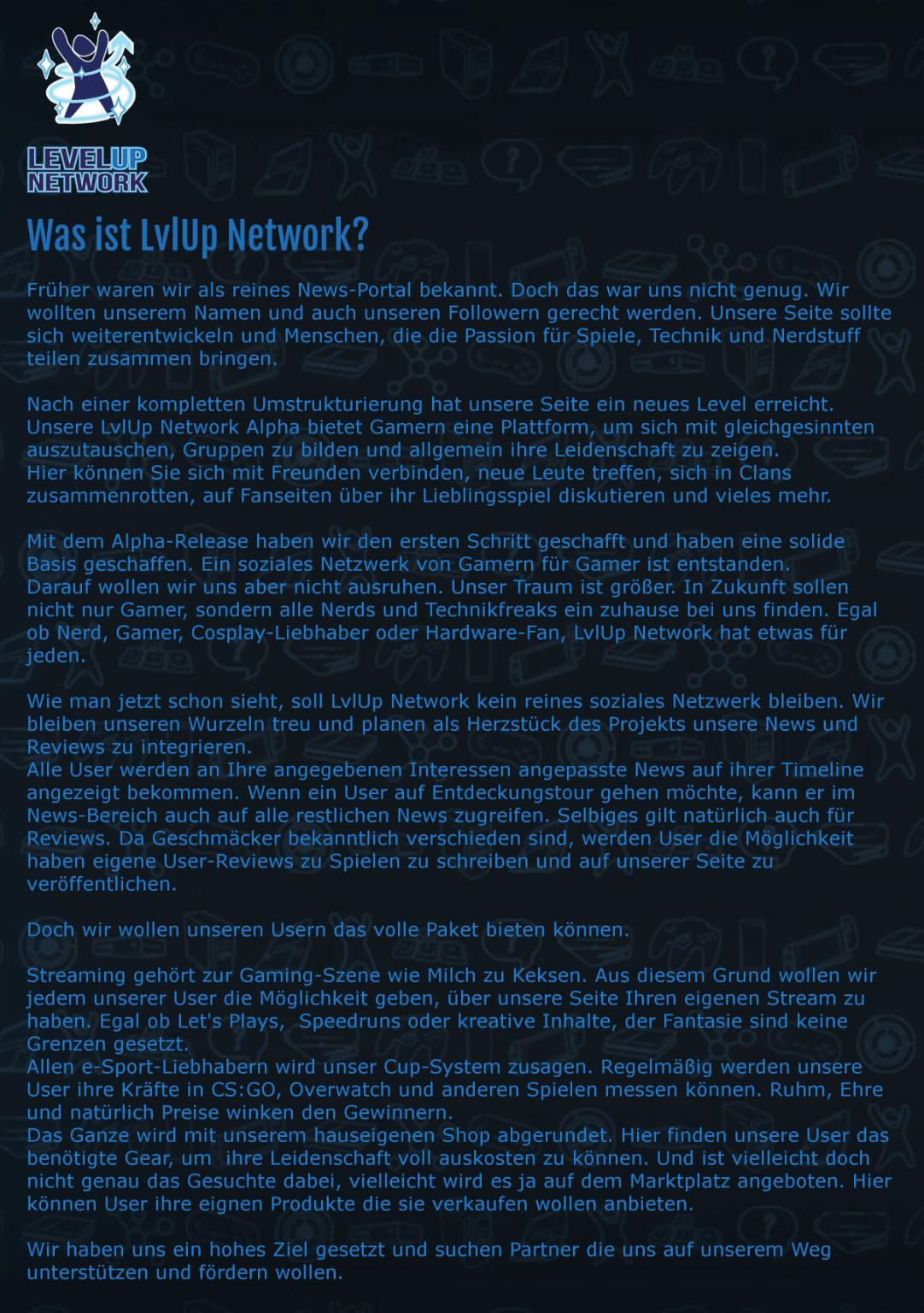 LvLup Network Ein Neues Soziales Netzwerk Für Gamer Und Nerds - Minecraft verstecken spielen server