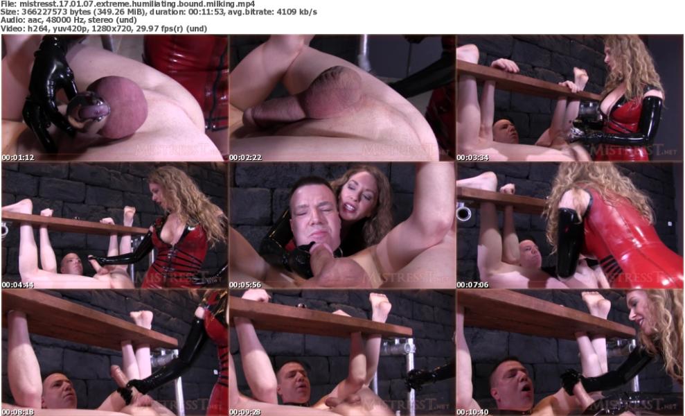 MistressT 17 01 07 Extreme Humiliating Bound Milking Xxx 720p Mp4-Weird