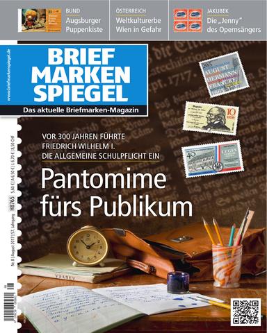 Briefmarken Spiegel 08 2017