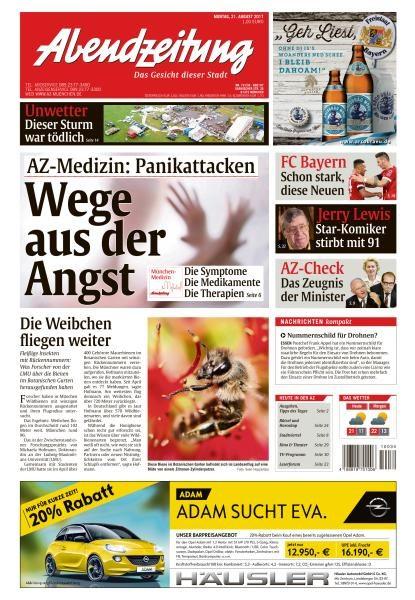 Abendzeitung Muenchen 21 August 2017