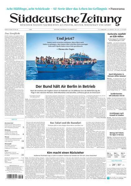 Sueddeutsche Zeitung 16 August 2017