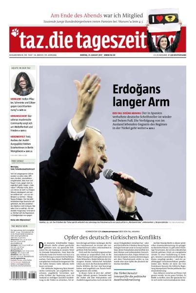 Taz die tageszeitung 21 August 2017
