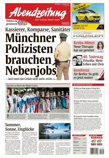 Abendzeitung Muenchen 16 August 2017