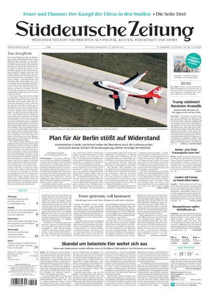 Sueddeutsche Zeitung 17 August 2017